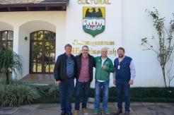 Visita do jornalista Rafael Henzel e Luiz Danieli (Banco Safra) - 22/06/2018