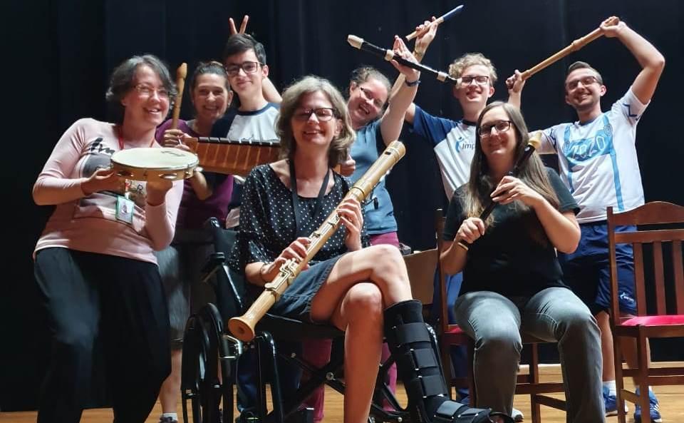 Primeiro ensaio em 2020 Grupo de Flautas - 14/02/2020